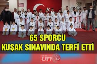 Reis Sporlu Taekwondocularda Kuşak Sınavı Heyecanı