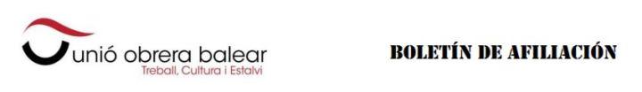 Cabecera boletín afiliación UOB
