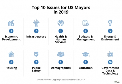 Graphic Top Issues for US Mayors
