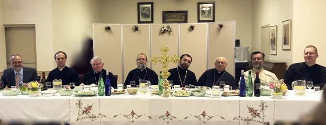 St. Anne's Ukrainian Orthodox Church, Scarborough, Ontario — Feast day, head table