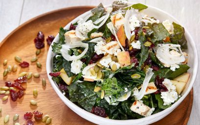 Kale with Oven Roasted Chicken Salad
