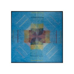 "4 ""Background Radiation III"" woodcut, mixed media, on paper on wood panel, image size: 140cm x 140cm, 2014"