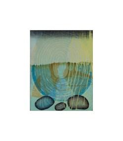 "7 ""On the Horizon"", woodcut, image size: 48cm x 38cm, 2015"