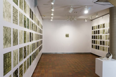 Installation View in FAB Gallery of The Soy Field, The Garden, & Broken Seed Jar