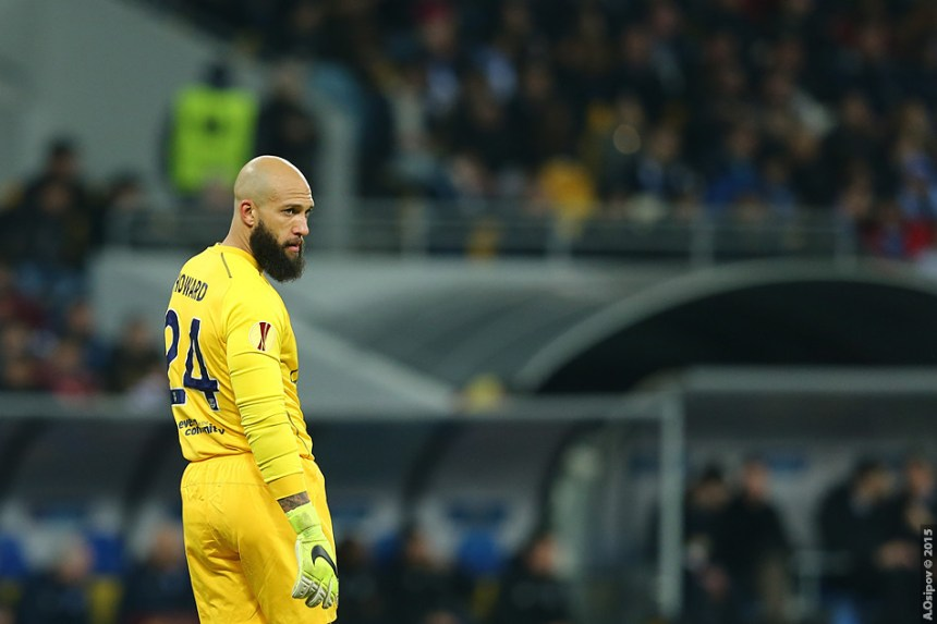 Goalkeeper Tim Howard may be nearing the end of his Everton career. Photo courtesy of Flickr Creative Commons/Aleksandr Osipov
