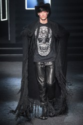 cowboy philipp plein winter fall witch male week boots dark milan menswear collection noir inspired sleazy fiction characters pagan hipster