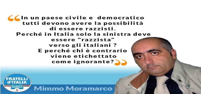 Mimmo Moramarco-razzismo