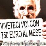 Il 63,4% dei pensionati ha un assegno inferiore ai 750 euro