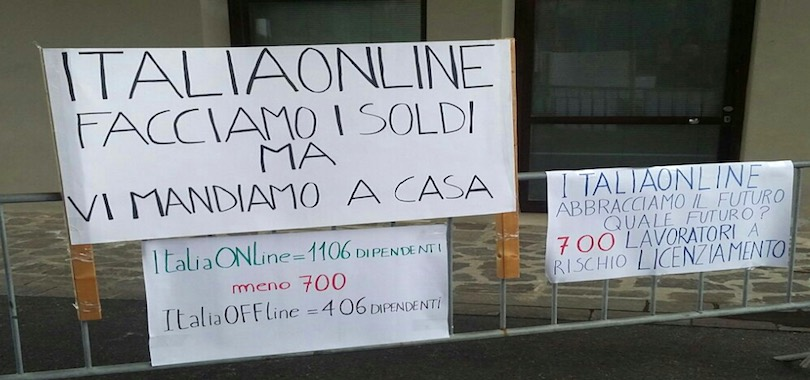 italiaonline licenziamenti