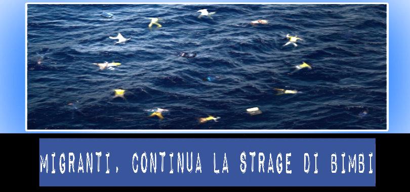 bambini migranti morti in mare
