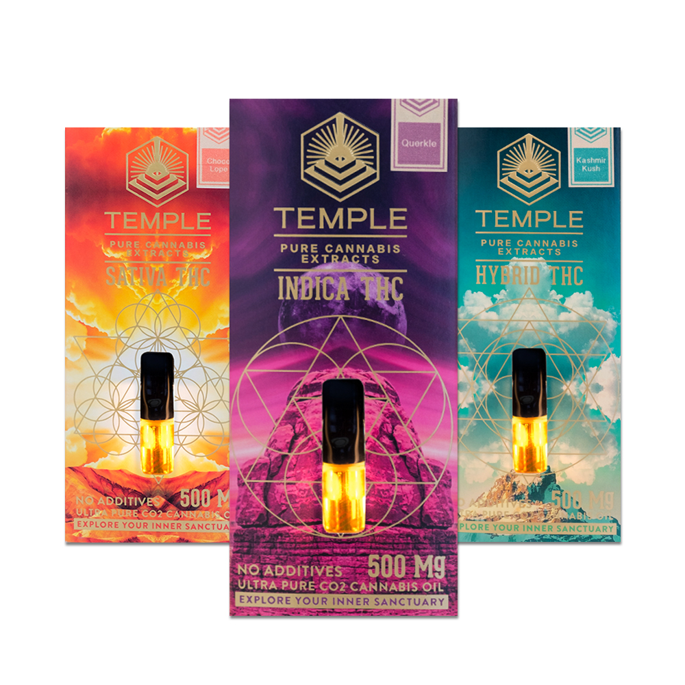 Temple extracts vape cartridges indica thc