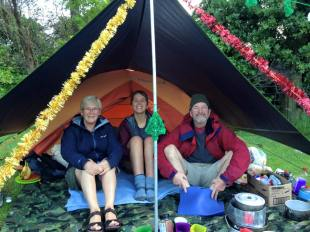 Christmas in a tent with my mum and dad