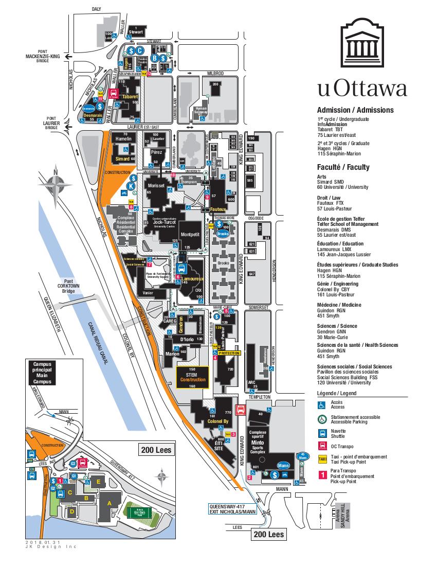 U Of O Maps : Campus