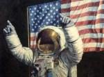 Neil Armstrong Celebrating - Alan Bean