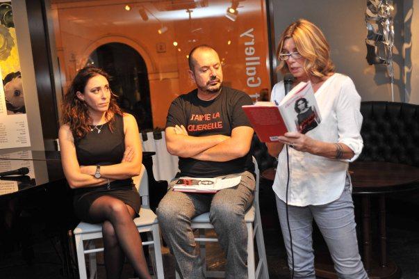 Da sx Francesca Vecchioni, Fabio Canino, Cinzia Monreale