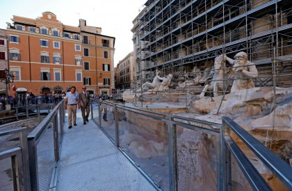 Fontana di Trevi restauro 2