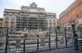 Fontana di Trevi restauro 4