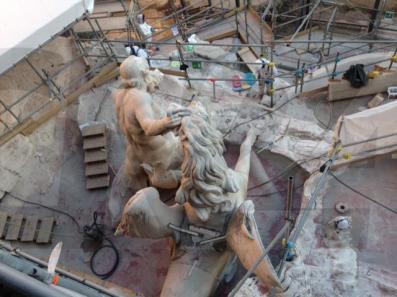 Fontana di Trevi restauro 6