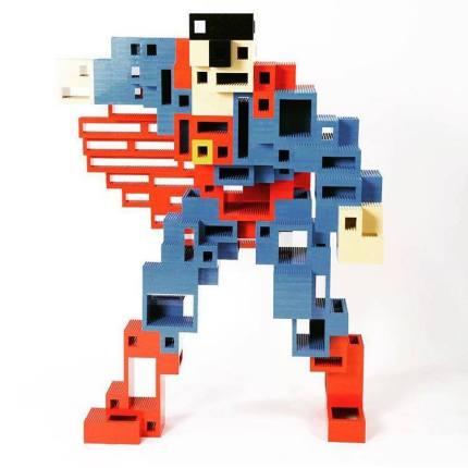 Nathan Sawaya e i Lego - Superman Cubed
