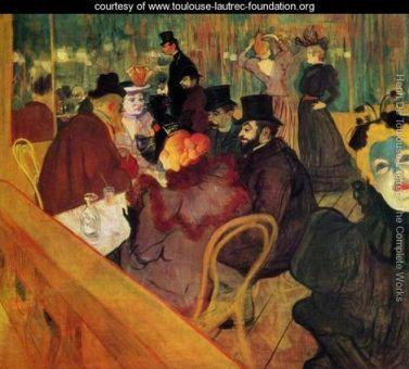 At The Moulin Rouge - Henri De Toulouse-Lautrec