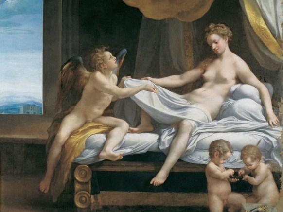 Correggio (Antonio Allegri), Danae, 1531-1532, Olio su tela, Roma, Galleria Borghese