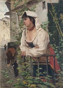 Fattori - Ciociara (ritratto di Amalia Nollemberg)