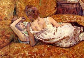 Henri de Toulouse-Lautrec The two girlfriends 1895