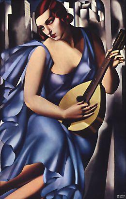 The Musician (1929), oil on canvas by Tamara de Lempicka
