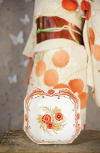 kimono arancione
