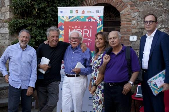 Da sx Andrea Zagami, Franco Marcoaldi, Alberto Asor Rosa, Denise Pardo, Giacomo Marramao e Tommaso Cerno