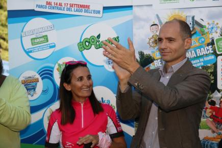 Vincitrice Pagaie Rosa e Daniele Frongia