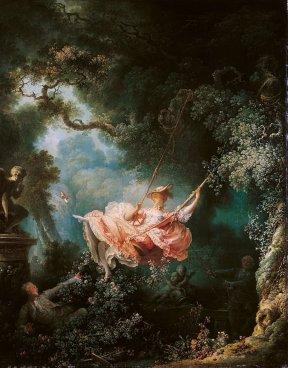 """Jean-Honoré Fragonard_s """"The Swing"""". Eros e sesso nell'arte"""