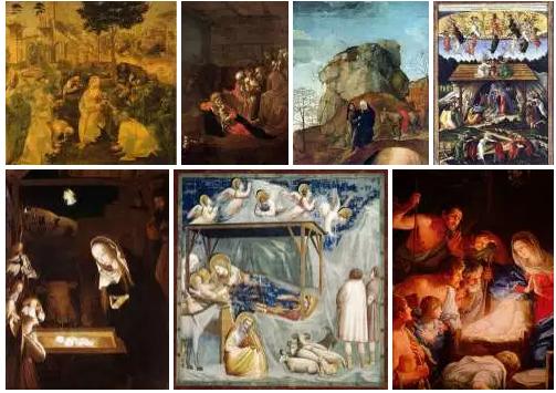 Natale per Botticelli , Raffaello, Friedrick, Giotto e tanti altri