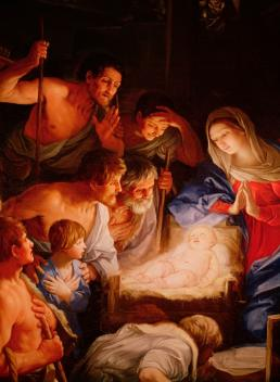 The Adoration of the Shepherds by Guido Reni (c 1640)
