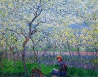 Claude Monet, An Orchard in Spring, 1886