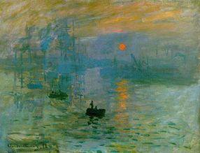 Claude Monet. Impression, soleil levant, (1872, Musée Marmottan Monet)