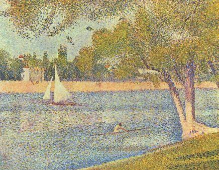 Georges Seurat. The Seine at La Grande Jatte. (1888, Royal Museums of Fine Arts of Belgium)