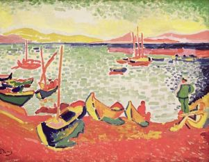 Boats in the Harbour at Collioure, 1905, Andre Derain