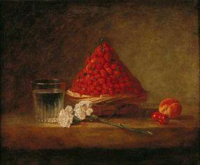 Jean-Baptiste-Simeon Chardin Basket With Wild Strawberries (1761)