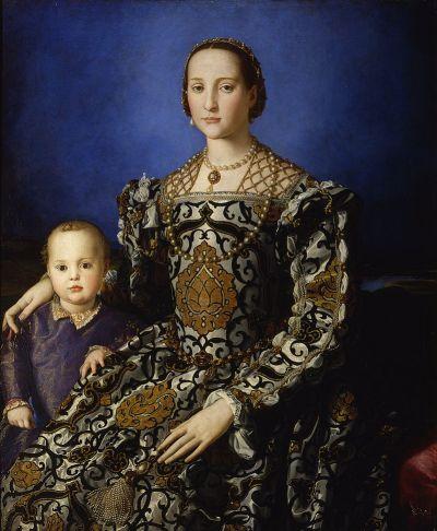 Agnolo Bronzino, Ritratto di Eleonora di Toledo col figlio Giovanni