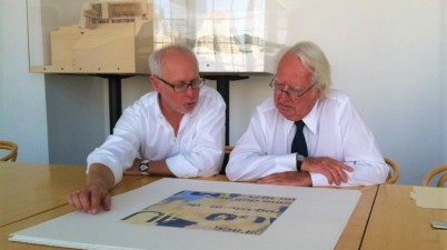 Greg Smith e Richard Meier con una delle loro Edition