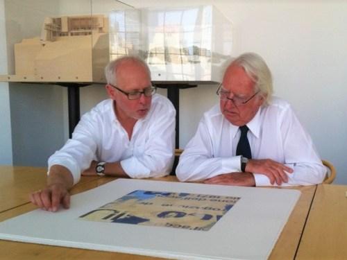 Greg Smith e Richard Meier con una delle loro Edition