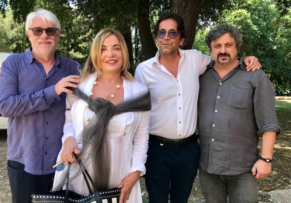 Da sinistra Ricky Tognazzi, Simona Izzo, Kristian Franzini e Fabrizio Conti per il Festival della commedia italiana