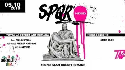 S. P. Q. R. street art romana