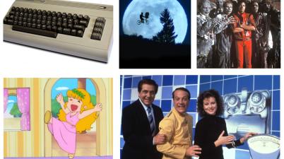 1982: E.T. l'extra-terrestre, Thriller, Pollon, Il pranzo è servito e Commodore 64