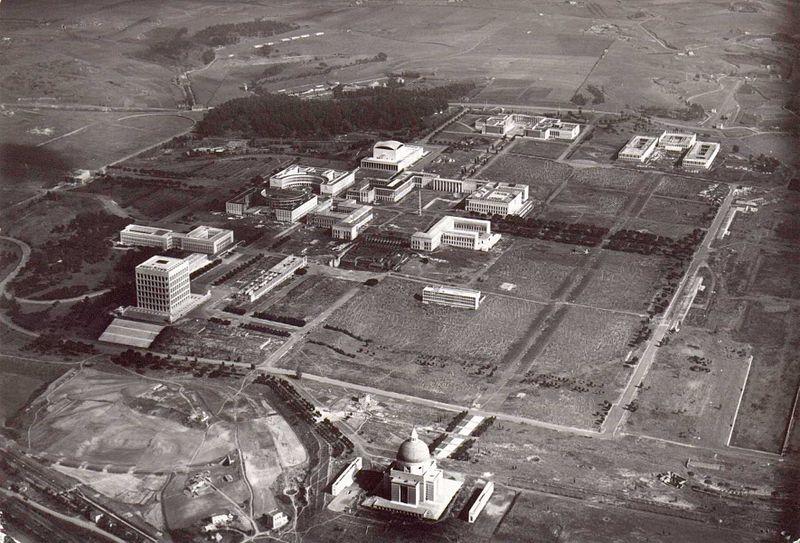 Il quartiere Eur nel 1953