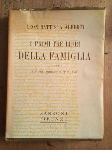 Il trattato della famiglia di Leon Battista Alberti