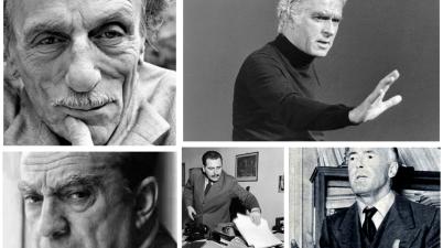 Giorgio Strehler, Paolo Grassi, Luchino Visconti, Ugo Betti ed Eduardo De Filippo