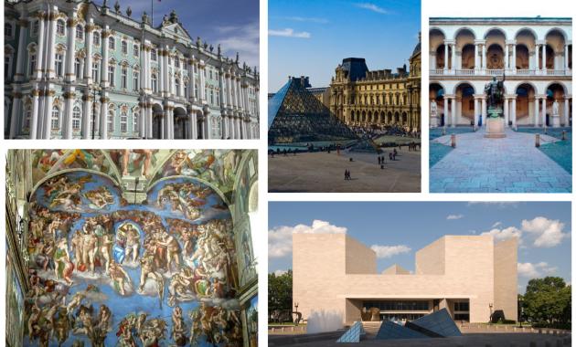 Dai Musei Vaticani di Roma alla Pinacoteca di Brera a Milano, dal Louvre di Parigi alla National Gallery of Art di Washington