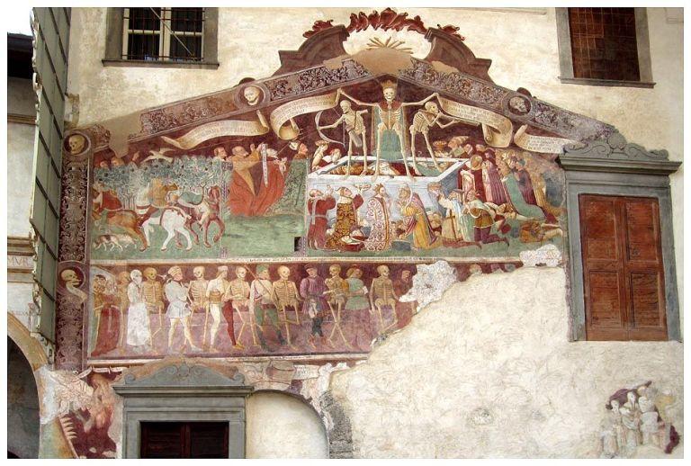 Giacomo Borlone de Burchis, The Triumph of Death with The Dance of Death, 15th century